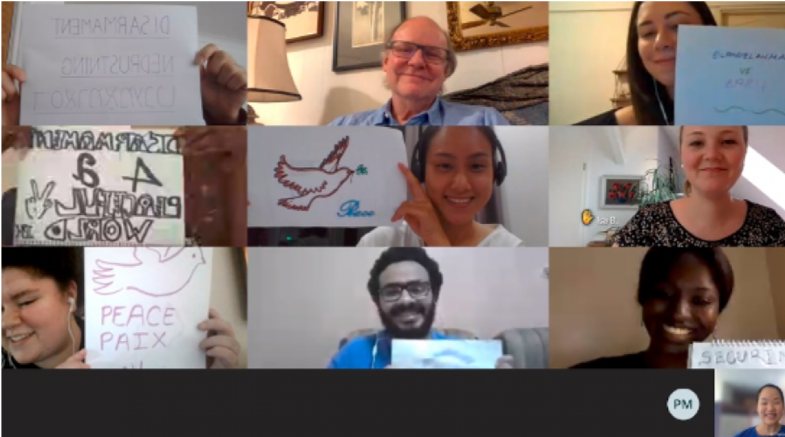 Youth Champions during a virtual meeting.