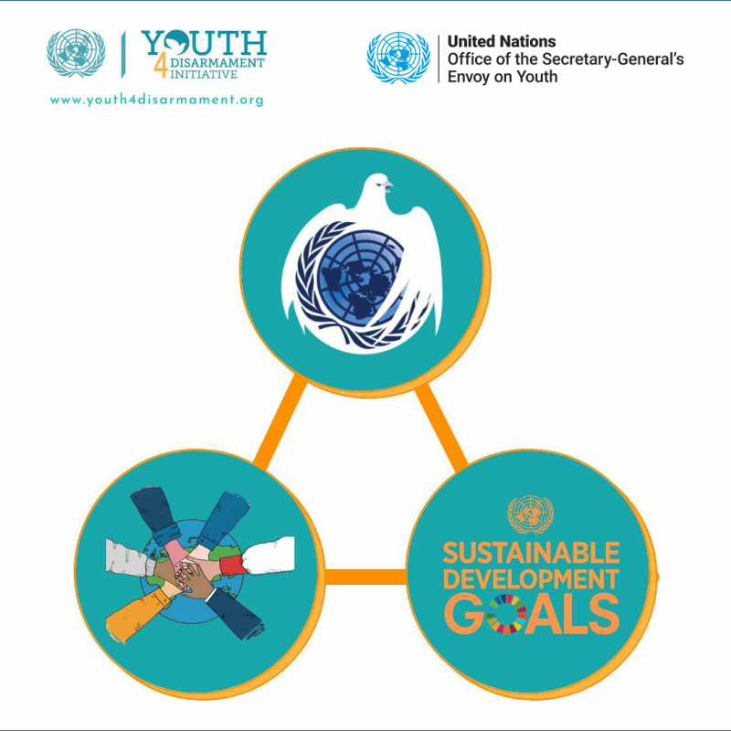 Graphic on the Sustainable Development Goals, youth and the United Nations